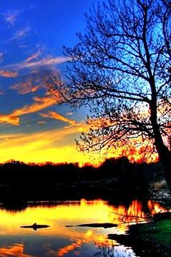 唯美夕阳高清风景壁纸